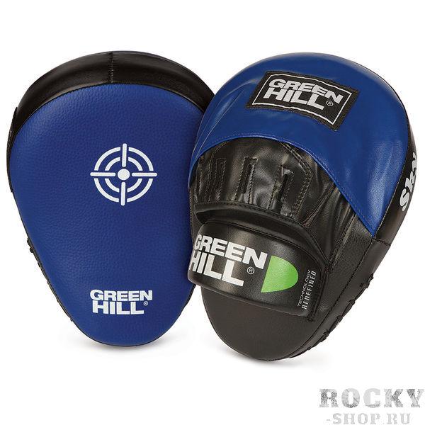 Боксерские лапы Green Hill Sky Green HillЛапы и макивары<br>Легкие и удобные изогнутые боксерские лапы. Внешняя часть выполнена из натуральной кожи.<br>