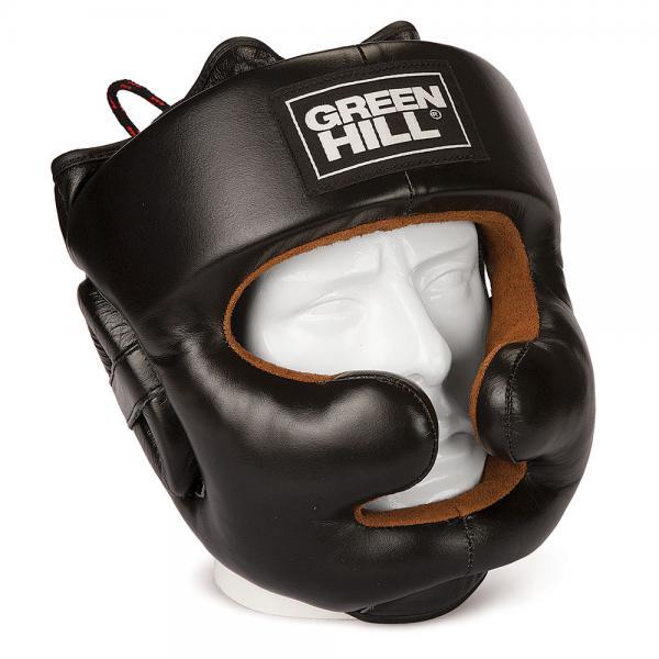 Боксерский шлем Green Hill LUX Green HillБоксерские шлемы<br>Отличный тренировочный шлем для бокса, тайского бокса, ММА и других ударных единоборств. Выполнен из натуральной кожи, внутри замша. Регулируется липучками и шнурком.<br><br>Размер: XL