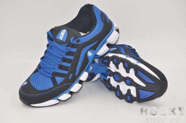 Кроссовки Green Hill A-298M, черные с синим Green HillКроссовки<br>Модель изготовлена из качественного материала практичной расцветки. Подходят как для занятий спортом, так и для повседневной носки. Материал: искусственная кожа, синтетическая сетка.<br><br>Размер INT: 45