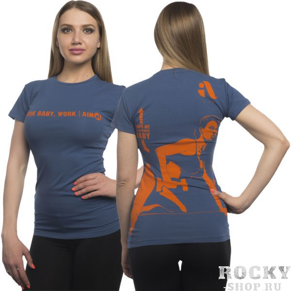 Футболка Aim AimФутболки<br>Женская футболка Aim. Супер качество и крутые дизайны гарантируем! Очень важно, что любая футболка подойдет для занятий спортом, активного отдыха или повседневного ношения! Футболки сделаны по специальному покрою, который был разработан нашими технологами, и будут идеально сидеть на фигуре, подчеркивая ваши достоинства! Стиль, индивидуальность и комфорт! Носите с удовольствием нашу одежду! Уход: машинная стирка в холодной воде, деликатный отжим, не отбеливать. Состав: 100% хлопок.<br><br>Размер INT: M