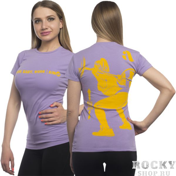 Футболка Aim AimФутболки<br>Женская футболка Aim. Супер качество и крутые дизайны гарантируем! Очень важно, что любая футболка подойдет для занятий спортом, активного отдыха или повседневного ношения! Футболки сделаны по специальному покрою, который был разработан нашими технологами, и будут идеально сидеть на фигуре, подчеркивая ваши достоинства! Стиль, индивидуальность и комфорт! Носите с удовольствием нашу одежду! Уход: машинная стирка в холодной воде, деликатный отжим, не отбеливать. Состав: 100% хлопок.<br><br>Размер INT: S