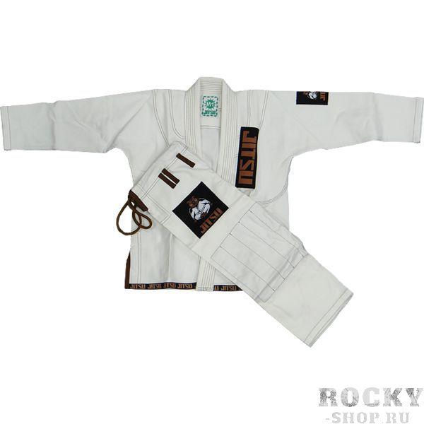 Детское ги для БЖЖ Jitsu Bear JitsuЭкипировка для Джиу-джитсу<br>Детское ги для БЖЖ Jitsu Bear. Ги, отвечающее высоким стандартам качества. Кимоно отлично подойдет как для тренировок, так и для соревнований. Особенности кимоно: • Куртка сделана из 1 куска 100% хлопка плотностью 350 г/кв. м. ; • Тип плетения - жемчужный; • Кимоно усажено, но небольшая усадка возможна; • Пояс приобретается отдельно. Состав: 100% хлопок.<br><br>Размер: M3