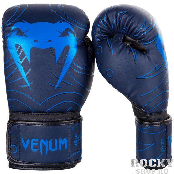 Купить Перчатки боксерские Venum Nightcrawler Navy Blue 14 унций (арт. 17673)