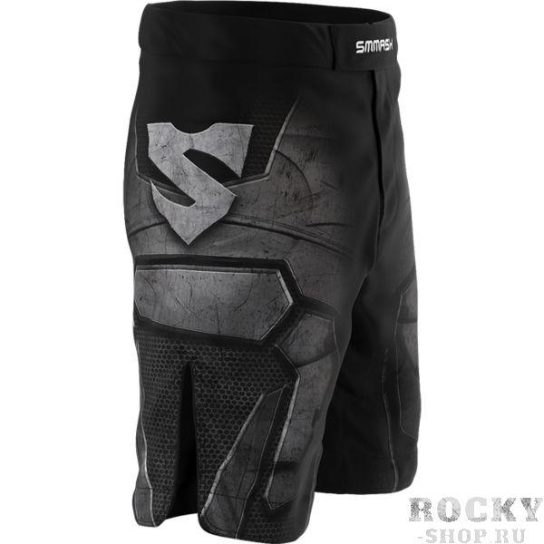 Шорты Smmash Dark Knight Smmash FightwearШорты ММА<br>Шорты Smmash Dark Knight. Бойцовские шорты Smmash выполнены из материала Powerflex. За счёт материала шорты получились достаточно лёгкими, но при этом прочные. Эластичная вставка в промежности дает свободу при работе ногами. Крепятся шорты на поясе с помощью липучки и встроенного в пояс шнурка. Рисунок полностью сублимирован в ткань. он не потрескается и не сотрется! Уход: машинная стирка в холодной воде, деликатный отжим, не отбеливать. Состав: полиэстер, спандекс.<br><br>Размер INT: XL