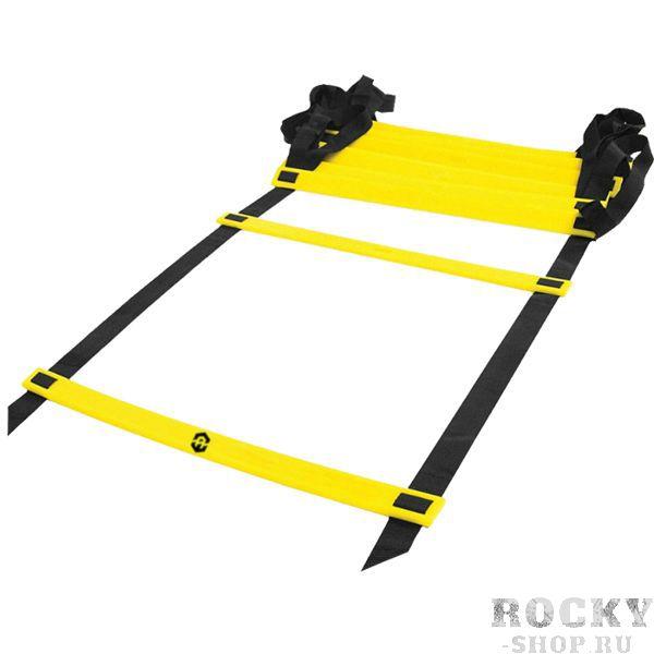 Координационная лестница Absolute Weapon Absolute WeaponАксессуары для фитнеса<br>Лестница для функциональных тренировок Absolute Weapon. Один из самых простых, но эффективных тренажеров для функциональных тренировок. Использование координационной лестницы помогает значительно улучшить баланс, координацию и скорость. Координационная лестница состоит из пластиковых перекладин и соединяющих лент. Максимальная длина лестницы, см: 600. Длина перекладины, см: 50. Ширина перекладины, см: 3. 6. Толщина перекладины, см: 0. 4. Ширина соединяющей ленты, см: 2. 3. Размер упаковки, см: 50х22. Количество перекладин: 12. Вес лестницы: 0. 88 кг.<br>