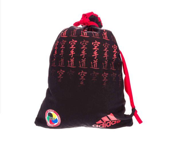 Мешок для кимоно Satin Carry Bag Karate WKF черно-красный AdidasСпортивные сумки и рюкзаки<br><br>