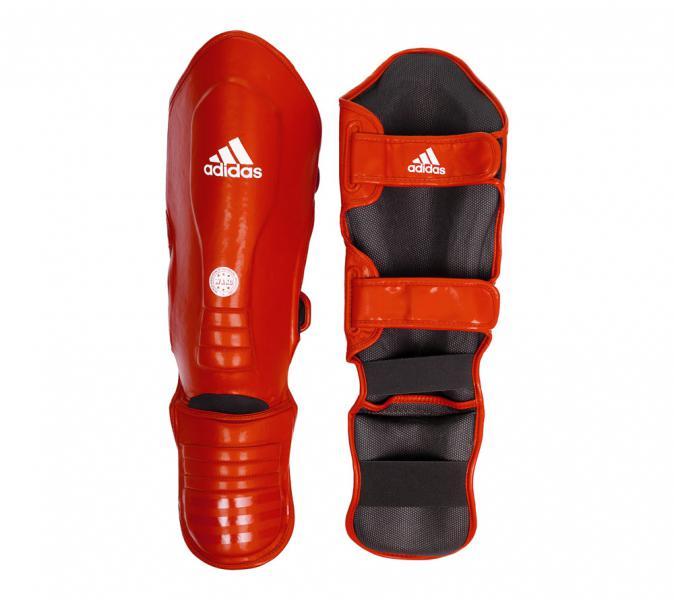 Купить Защита голени и стопы WAKO Super Pro Shin Instep Guards красная Adidas (арт. 17867)
