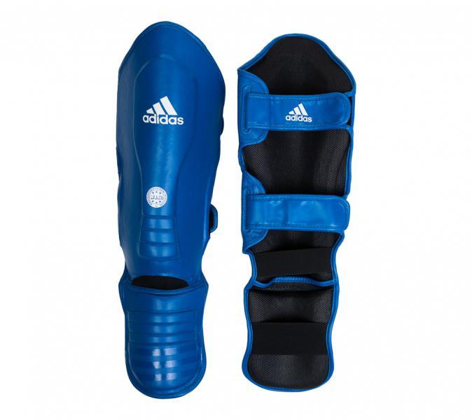 Купить Защита голени и стопы WAKO Super Pro Shin Instep Guards синяя Adidas (арт. 17868)