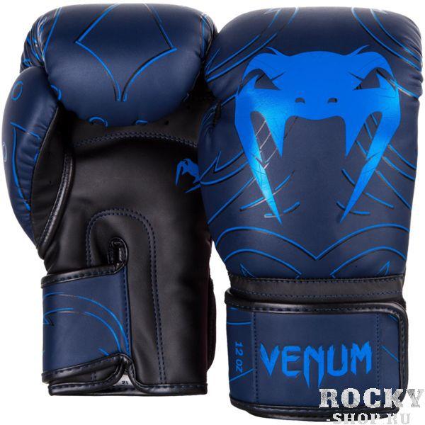 Купить Боксерские перчатки Venum Nightcrawler Navy Blue 12 oz (арт. 17906)