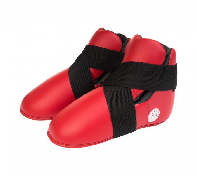Защита стопы WAKO Kickboxing Safety Boots красная AdidasЗащита тела<br>Профессиональные футы для кикбоксинга, одобрены WAKO (Всемирная Федерация кикбоксинга). Футы допускаются на соревнования под эгидой WAKO. Внешний материал:полиуретан, которыйдостаточно прочный в использовании, внутренний материал: пена высокого давления, которая со временем не трескается и не теряет форму. Удобная фиксация на ноге, материал впитываетвлагу и выводит её. Легкие и комфортные в использовании. Используются во многих единоборствах. Одобрено WAKO. Одобрено Федерацией Кикбоксинга России. Прочный полиуретан PU3G. Влагостойкий выводящий материал. Пенный вкладыш. Удобная фиксация. Легкие и удобные.<br><br>Размер: L
