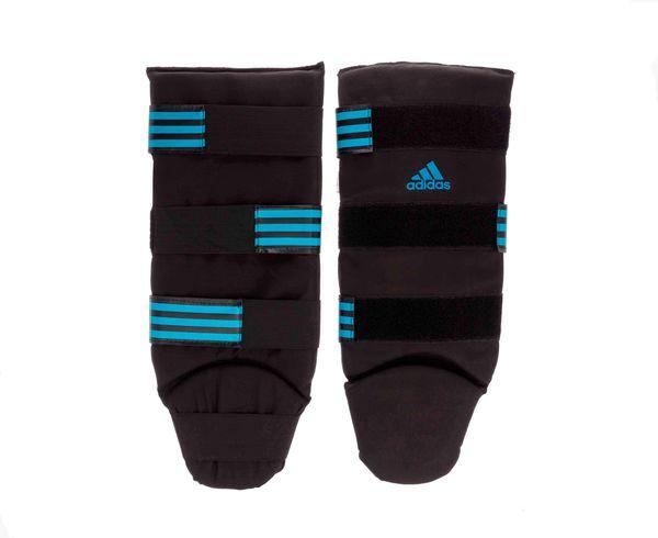 Купить Защита голени и стопы Textile Shin Instep Guard черно-синяя Adidas (арт. 17980)