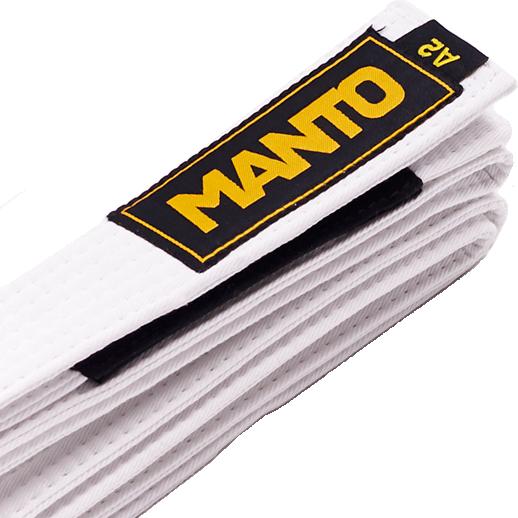 Пояс для кимоно Manto MantoЭкипировка для Джиу-джитсу<br>Пояс для кимоно Manto . На поясе присутствует сегмент для ранговых нашивок. Ширина пояса для бжж manto примерно 4. 3см, толщина примерно 0. 5см. Состав: 100% хлопок.<br><br>Размер: A1