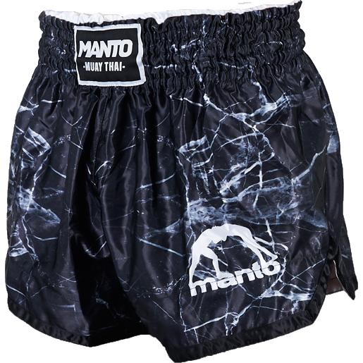 Шорты для тайского бокса Manto Black MantoШорты для тайского бокса/кикбоксинга<br>Шорты для тайского бокса Manto Black. Широкий эластичный пояс гарантирует комфорт и надежную фиксацию на поясе. Состав: 100% полиэстер.<br><br>Размер INT: L