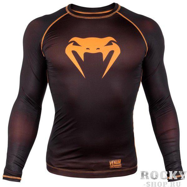 Компрессионная футболка Venum Contender 3.0 Black/Orange L/S VenumРашгарды<br>Компрессионная футболка Venum Contender 3. 0 Black/Orange L/S идеально садится на тело за счет материала из смеси полиэстера и спандекса. Защищает от мелких травм, раздражений, микробов. Оригинальный дизайн продукта обеспечивает вам непревзойденный стиль. Особенности:- Сделано в Китае- Состав - 87% полиэстер/13% спандекс - эластичная и прочная ткань- Компрессионная технология улучшает кровообращение в мышцах и ускоряет восстановление- Рисунок полностью сублимирован в ткань- Усиленные швы- Силиконовая полоса на талии предотвращает задирание<br><br>Размер INT: M