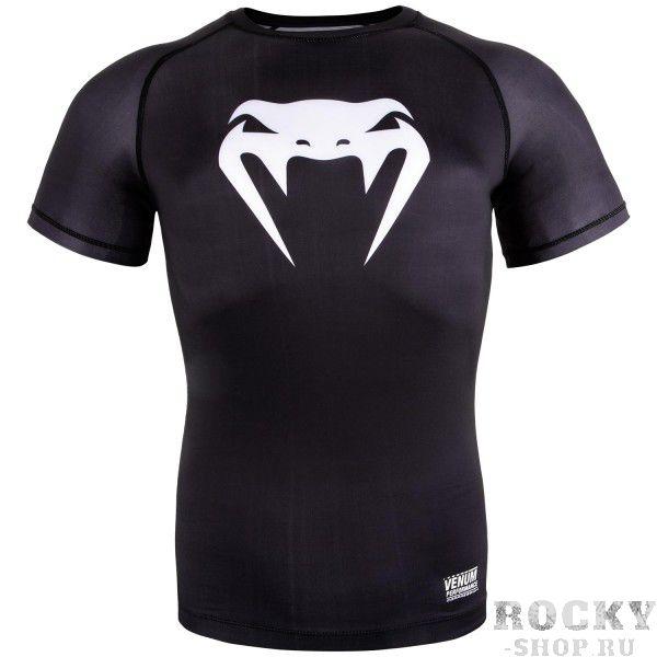 Купить Компрессионная футболка Venum Contender 3.0 Black/White S/S (арт. 18052)