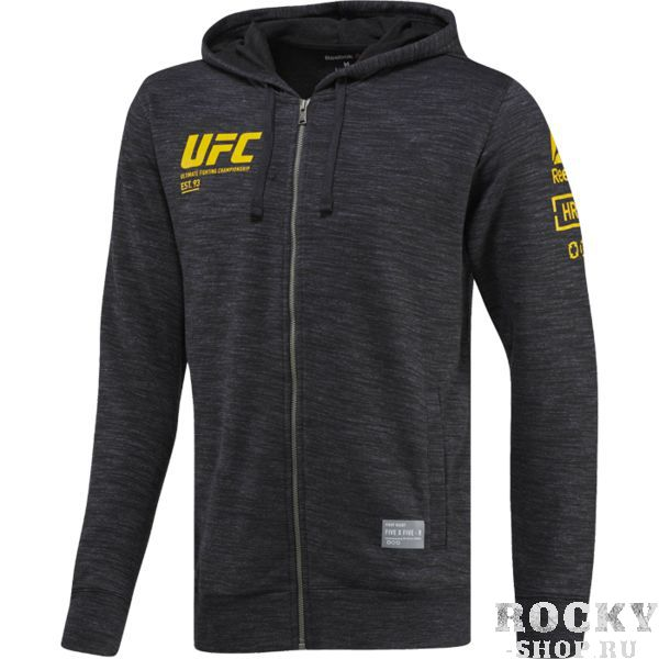 Худи Reebok UFC Ultimate Fan ReebokТолстовки / Олимпийки<br>Худи Reebok UFC Ultimate Fan. Материал: 70% хлопок / 30% полиэстер, трикотажный материал. Облегающий крой. Капюшон на шнурке для дополнительной защиты от холода. Удобные карманы по бокам. Уход: машинная стирка в холодной воде, деликатный отжим, не отбеливать. Купить кофту Reebok можно в нашем магазине либо оформив заказ на доставку.<br><br>Размер INT: XXL