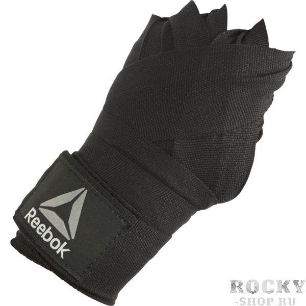 Боксерские бинты Reebok, 4.5 метра ReebokБоксерские бинты<br>Боксерские бинты Reebok Combat. Предназначены для защиты запястия и пястно-фаланговых суставов кисти. Бинты достаточно хорошо тянуться! что дает им возможность плотнее садиться на руку. Удобная застежка-липучка. Эластичная петля для большого пальца. Длина: 450 см.<br>