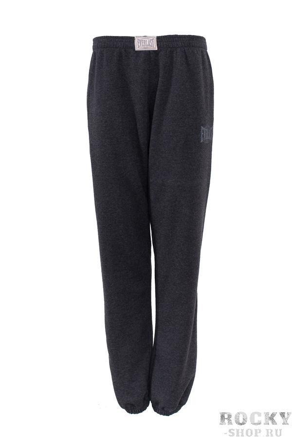 Брюки спортивные Everlast Old Authentic , темно-серые EverlastСпортивные штаны и шорты<br>Спортивные брюки Everlast Old Authentic выполнены из мягкого трикотажа. Модель зауженного силуэта. Детали: эластичный пояс и манжеты, два боковых кармана. Состав Полиэстер - 60%, Хлопок - 40%<br><br>Размер INT: S