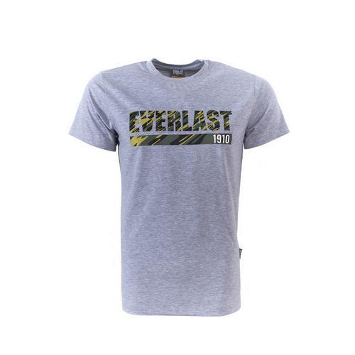 Футболка Everlast Camouflage, серая EverlastФутболки<br>Футболка от спортивного бренда Everlast выполнена из хлопкового трикотажа. Модель прямого кроя.<br><br>Размер INT: S