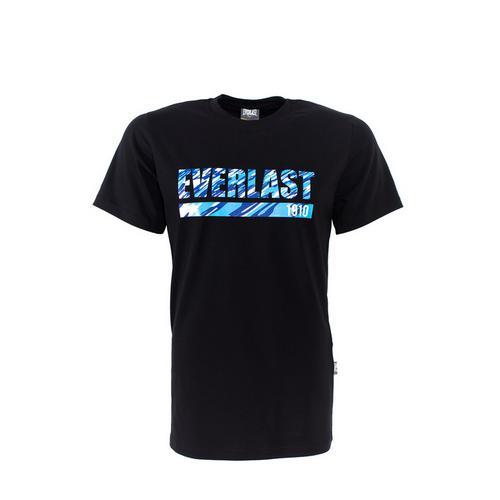 Футболка Everlast Camouflage, черная EverlastФутболки<br>Футболка от спортивного бренда Everlast выполнена из хлопкового трикотажа. Модель прямого кроя.<br><br>Размер INT: S