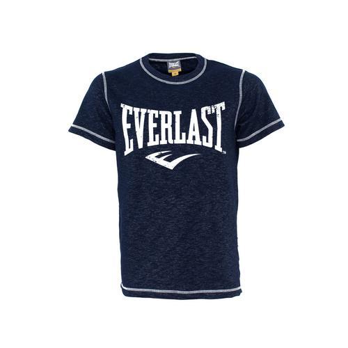 Футболка Everlast Gym, Синяя EverlastФутболки<br>Футболка Everlasr Gym. Классика боксёрского бренда Everlast. Состав: 78% хлопок, 22% полиэстер.<br><br>Размер INT: S