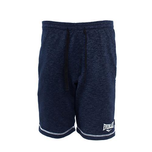 Спортивные шорты Everlast Gym, Синие EverlastСпортивные штаны и шорты<br>Спортивные шорты Everlast Gym выполнены из хлопкового трикотажа. Модель прямого силуэта. Эластичный пояс со шнурком, два боковых кармана.<br><br>Размер INT: M