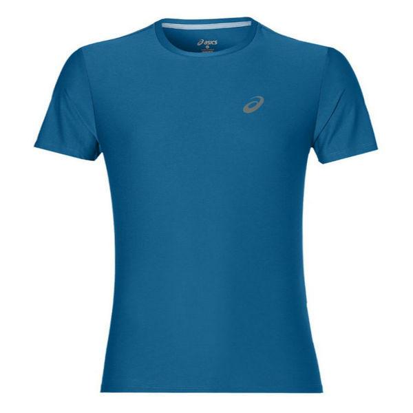 Беговая футболка ASICS 134084 8154 SS TOP  AsicsФутболки<br>Беговая футболка ASICS 134084 8154 SS TOP•Стильная мужская спортивная футболка от ASICS идеально подойдет как для занятий бегом, фитнесом, так и для повседневной носки. •Высокотехнологичная синтетическая ткань, в состав которой входят волокна полиэстера, обладает хорошими эксплуатационными характеристиками. •Технология управления влажностью обеспечивает эффективный отвод влаги с поверхности кожи. •Футболка хорошо тянется и не деформируется после многочисленных стирок. •Округлая горловина футболки подшита мягкой каймой. •Спина декорирована вставкой зеленого цвета, которая обеспечивает дополнительную вентиляцию.<br><br>Размер INT: L