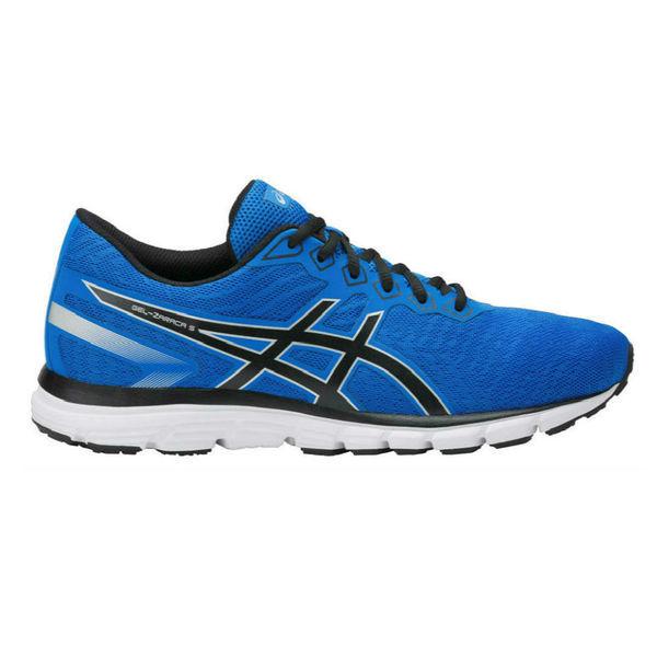 Кроссовки беговые мужские ASICS T6G3N 4390 GEL-ZARACA 5 AsicsКроссовки<br>Беговые кроссовки ASICST6G3N 4390 GEL-ZARACA 5ASICS GEL-ZARACA 5 – обновленная модель для любителей, стремящимся к естественному бегу, то есть бегу в обуви без технологичных наворотов. Данная модель подходит начинающим бегунам с нейтральной пронацией и средним весом (60-70 кг). Кроссовки GEL-ZARACA 5 обеспечивают надежность и защиту в процессе естественного бега. Бег в данной модели, обладающей легкостью, меньшей амортизацией, однако лучшей гибкостью – прекрасная альтернатива для ваших ступней. Основное обновление коснулось верхней части кроссовка. Конструкторы убрали литые накладки в носочной части, что должно улучшить посадку на ногах у людей с широкими стопами. Как и прежде, пятка фиксируется на месте во время бега с помощью жесткой внутренней чашки. Воздухопроницаемая сетка создает комфорт во время длительного ношения данных кроссовок. Пятое поколение сохранило удачную и сбалансированную платформу. Гелевая амортизация в пятке и промежуточная подошва из мягкой пены EVA создают необходимый комфорт на каждом приземлении во время бега. Гелевые вставки ASICS GEL, расположенные в стратегически важных местах, распределяют и поглощают ударную нагрузку на стопы, колени и спину бегуна. Благодаря канавкам гибкости Flex Grooves увеличивается гибкость подошвы и достигаются более натуральные ощущения под стопой. Технологии, использованные в модели ASICS GEL-ZARACA 5: •ASICS GEL. Эластичная капсула с полутвердой субстанцией-желе, размещенная в местах ударных нагрузок (в носовой и пяточной областях), сводит к минимуму давление и напряжение, воздействующее на ногу спортсмена во время бега. •Removable insole EVA. Съемная стелька, которая может быть извлечена для замены на медицинскую ортопедическую. •Gill mesh. Уникальная сетка поглощает воздух и направляет его внутрь кроссовка для вентиляции и охлаждения.<br><br>Размер INT: 8