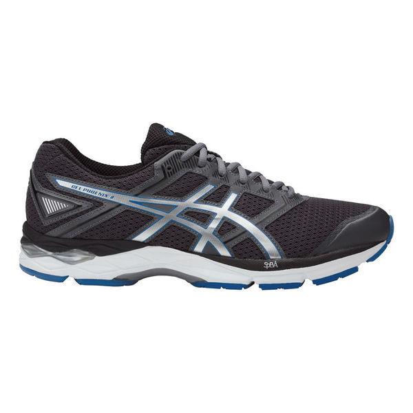 Кроссовки беговые мужские ASICS T6F2N 9743 GEL-PHOENIX 8 AsicsКроссовки<br>Беговые кроссовки ASICS T6F2N 9743 GEL-PHOENIX 8 ASICS GEL-PHOENIX 8 - тренировочные кроссовки для бегунов со средним весом для ежедневных пробежек в темпе до 4:40 минут на километр по асфальту, беговой дорожке или утоптанной тропинке. Кроссовки хорошо подойдут для различных категорий спортсменов c нейтральной или избыточной пронацией для ежедневного бега, в котором наиболее важным является набор километров, а не скоростные тренировки. Данная модель представляет собой компромисс между амортизацией, стабильностью во время бега и приемлемой ценойВерх GEL-PHOENIX 8 состоит из двухслойной дышащей сетки, которая позволяет воздуху легко проникать к стопе во время ношения данных кроссовок. Такое конструктивное решение также придает комфорта и позволяет сохранить стопу в сухости и прохладе во время длительной тренировки. В отличие от предыдущей версии накладка вокруг пальцев не пришита к сетке верха, а приклеена. Накладки на верх хоть и пришиты, но швы не создают какого-либо дискомфорта во время бега. Важно правильно подобрать размер, т. е. на 0,5 см больше длины стопы для комфортного бега в данных кроссовках. Вы получите устойчивость стопы на длинных дистанциях, которую эти технологичные кроссовки подарят вам, когда усталость даст о себе знать. Кроссовки GEL-PHOENIX 8 подходят как для базовой подготовки, так и для подготовки к серьезным соревнованиям. Тротуар покажется вам мягким благодаря гелевой амортизации в передней и задней части. За стабильность кроссовок отвечает пена двойной плотности Duomax. Данная пена находится с внутренней стороны межподошвы для поддержки свода и предотвращения завала стопы вовнутрь. Пластиковая связка в средней части Trusstic придает кроссовкам структурную целостность и стабильность во время бега, препятствует скручиванию. Комбинация пены Duomax вместе с гелевой подушкой ASICS GEL в задней части межподошвы, а также упругой пеной SpEVA обеспечивает достаточную стабильнос