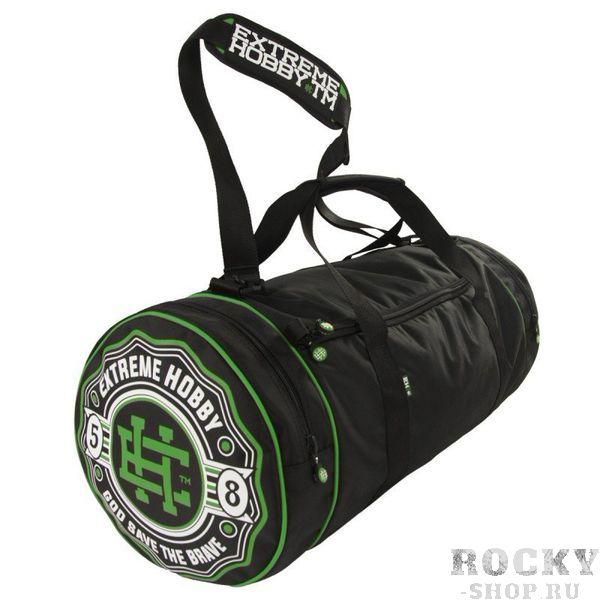 Спортивная сумка Bazooka зелено-черный Extreme HobbyСпортивные сумки и рюкзаки<br>Удобная и функциональная спортивная сумка BAZOOKA (различных цветов). Внутри сумки есть основное отделение и один внутренний карман на молнии. Сумка также оснащена двумя боковыми карманами. Две усиленные ручки и регулируемый эргономичный ремень для носки на плече. Диаметр: 31см / Общая длина: 67см / ширина основного отсека: 51см / ширина боковых карманов: 8 см. Также обратите внимание на другие наши аксессуары. <br>КОЛЛЕКЦИЯ: 58 BASIC<br>ЦВЕТ: ЗЕЛЕНЫЙ<br>МАТЕРИАЛ: 100% ПОЛИЭСТЕР<br><br>Размер: Универсальныйразмер