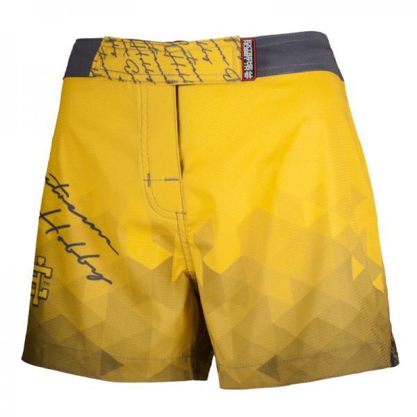 Шорты спортивные женские RAPID (желтый) Extreme HobbyСпортивные штаны и шорты<br>Ультралегкие женские шорты, изготовленные по спец технологии сплетения полиэфирного волокна с техникой рип-стоп . Чрезвычайно прочные с очень низкой поверхностной плотностью. Эластичная ткань обеспечивает свободу движений во время интенсивных тренировок . Шорты приятны на ощупь. Не впитывают влагу и не теряют цвет из-за УФ-излучения (рисунки не выцветают на солнце). <br>КОЛЛЕКЦИЯ: SPORT<br>ЦВЕТ: ЖЕЛТЫЙ<br>МАТЕРИАЛ: 82% ПОЛИЭСТЕР 18% ЭЛАСТАН<br><br>Размер INT: M