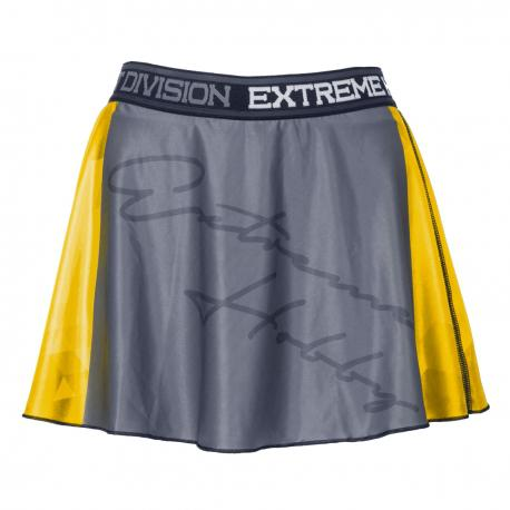 Юбка-шорты rapid (желтый) Extreme HobbyСпортивные штаны и шорты<br>Эластичные шорты с рисунком, которые прекрасно прилегают к телу. Шорты составляют единый комплект со свободной, слегка волнистой юбкой. Предназначены для женщин, которые любят спорт и удобство. Юбка-шорты идеально подчеркивают женский характер.<br><br>Размер INT: L