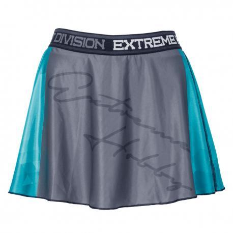 Юбка-шорты RAPID (аквамарин) Extreme HobbyСпортивные штаны и шорты<br>Эластичные шорты с рисунком, которые прекрасно прилегают к телу. Шорты составляют единый комплект со свободной, слегка волнистой юбкой. Предназначены для женщин, которые любят спорт и удобство. Юбка-шорты идеально подчеркивают женский характер.<br><br>Размер INT: L