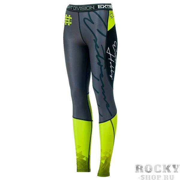 Штаны компрессионные женские RAPID (зеленый) Extreme HobbyКомпрессионные штаны / шорты<br>Леггинсы изготовлены из высококачественного материала. Водоотталкивающая ткань оставляет тело сухим, а мыщцы разогретыми. Логотипы нанесены по технологии сублимации, благодаря чему рисунок не трескается и не царапает тело. Специальная резинка на талии предотвращает соскальзываение во время боя.<br><br>Размер INT: L