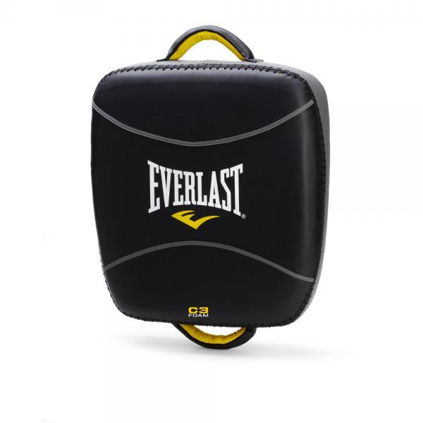 Макивара Everlast Leg Kick EverlastЛапы и макивары<br>Everlast C3 Pro Leg Kick Pad - крепкая и комфортабельная макивара, предназначенная для жестких и активных занятий спортом, позволяя отрабатывать удары ногами, ручным трудом и коленом. Это возможно вследствие уникальному многослойному пенному наполнителю C3 Foam™, который с безболезненностью смягчает даже самые тяжелые пинки, в то же в ходе оставляя свободу маневра и позволяя работать в разных ударных зонах и с несколькими целями.  Макивара сделана из первоклассной 100% кожи, что гарантирует огромный запас долговечности и отличную устойчивость к износу. Обе ручки дополнительно усиленны заклепками и подбиты пенным наполнителем. Если вы хотите, чтобы ваши тренировки были предельно эффективными и агрессивными, то C3 Pro Leg Kick Pad - это ваш выбор!<br>