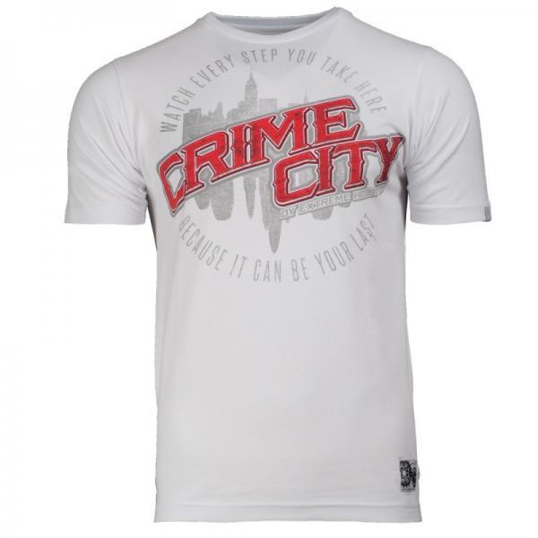 Футболка crime city Extreme HobbyФутболки<br>Футболка Extreme Hobby линии Brave характеризуется высоким качеством материала. Принты усилены HD эффектами и гелевым нанесением. Покрой был создан нами с нуля и обеспечивает ощущение комфорта и оригинальности. <br>КОЛЛЕКЦИЯ: OMERTA<br>ЦВЕТ: БЕЛЫЙ<br>МАТЕРИАЛ: 100% ХЛОПОК<br><br>Размер INT: L