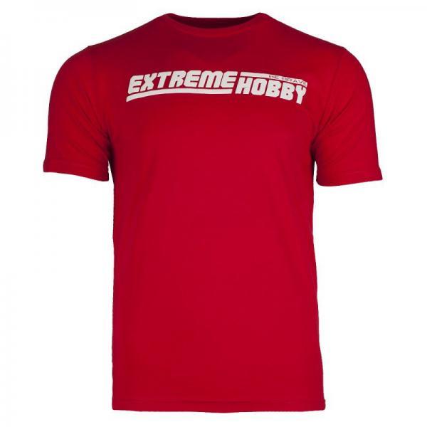 Футболка EH LINE (красный) Extreme HobbyФутболки<br>Футболка Extreme Hobby характеризуется высоким качеством материала. Принты усилены HD эффектами и гелевым нанесением. Покрой был создан нами с нуля и обеспечивает ощущение комфорта и оригинальности. <br>КОЛЛЕКЦИЯ: 58 BASIC<br>ЦВЕТ: КРАСНЫЙ<br>МАТЕРИАЛ: 100% ХЛОПОК<br><br>Размер INT: L
