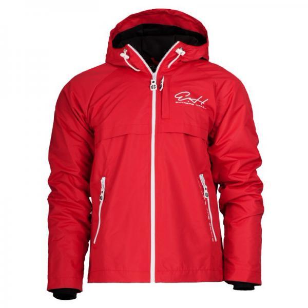 Куртка Cloud Busting EH 2 красный, красный Extreme HobbyКуртки / ветровки<br>Осенне-весенняя куртка ветровка Cloud busting создана для минимизации дискомфорта, который ощущается под конец лета, осенью и весной, когда в теплые дни вмешиваются холодные порывы ветра и дожди. Ветрозащитная ткань. Капюшон с утягивающей резинкой, застежки-молнии подмышками для эффективной вентиляции тела. 100% Полиэстер.<br><br>Размер INT: XL