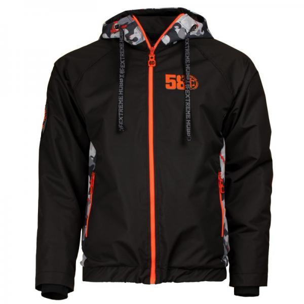 Куртка urban stealth eh (черный/оранжевый) Extreme HobbyКуртки / ветровки<br>Эта куртка предназначена для того, чтобы уменьшить дискомфорт, который может ощущаться в летне-осенний сезон, когда теплые дни чередуются с холодными. Дует ветер и идет небольшой дождь. Необычный дизайн - Flashy Camo - придает индивидуальный дизайн ветрозащитной ткани. Для того, чтобы обозначить уникальность продукта, мы использовали яркий зеленый и оранжевый цвет, который выделяется из городской мрачности. 100% полиэстер. <br>КОЛЛЕКЦИЯ: 58 BASIC<br>ЦВЕТ: ЧЕРНЫЙ<br>МАТЕРИАЛ: 100% ПОЛИЭСТЕР<br><br>Размер INT: L