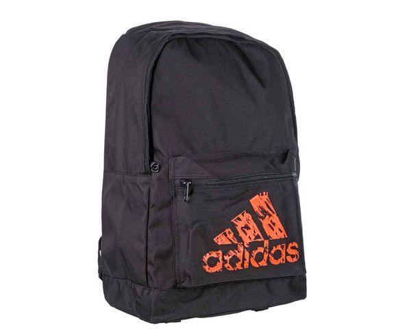 Рюкзак Basic Backpack черно-оранжевый AdidasСпортивные сумки и рюкзаки<br>Модель 2017 года.  Коллекция adidas martial arts &amp; boxing.  Рюкзак имеет регулируемые лямки, передний кармани один большой отсек. Материал: Прочный 100% полиэстер. Мягкая спинка для комфортного использования. Передний карман для аксессуаров. Отлично подходит для повседневного использования. Размер: 45х30х17 см<br>