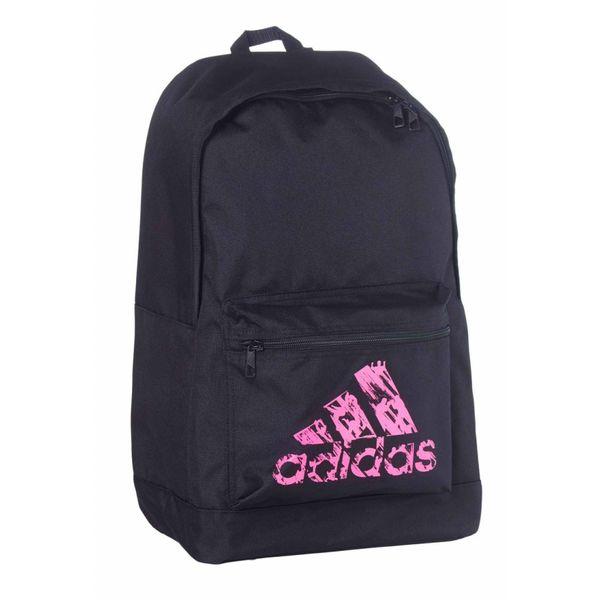 Рюкзак Basic Backpack черно-розовый AdidasСпортивные сумки и рюкзаки<br>Модель 2017 года.  Коллекция adidas martial arts &amp; boxing.  Рюкзак имеет регулируемые лямки, передний кармани один большой отсек. Материал: Прочный 100% полиэстер. Мягкая спинка для комфортного использования. Передний карман для аксессуаров. Отлично подходит для повседневного использования. Размер: 45х30х17 см<br>