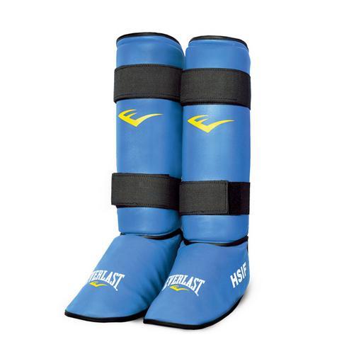 Защита голени и стопы Everlast  для рукопашного боя, Синяя EverlastЗащита тела<br>Защита голени и стопы Everlast HSIF PU для рукопашного боя. В этой защите можно не только спарринговаться, но и отрабатывать удары по боксерским мешкам. Хорошо фиксируется на ноге с помощью двух липучек на голени. Выполнена из высококачественного кожзаменителя. <br>Эксклюзивная официальная экипировка EVERLAST для рукопашного боя (с логотипом HSIF (международная федерация рукопашного боя)<br><br>Размер: M