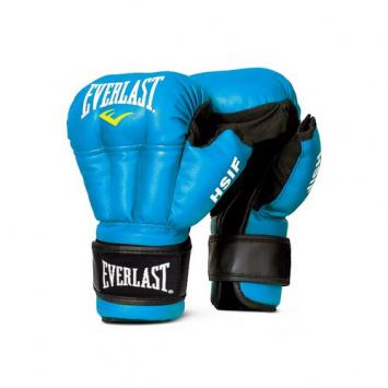 Перчатки для рукопашного боя Everlast HSIF PU RF3110, Синие EverlastЭкипировка для рукопашного боя<br>Перчатки для рукопашного боя Everlast HSIF PU. Перчатки для профессионалов!Выполнены из высококачественного кожзаменителя. Надежная фиксация липучкой. Дополнительная защита суставов. <br>Эксклюзивная официальная экипировка EVERLAST для рукопашного боя (с логотипом HSIF (международная федерация рукопашного боя)<br><br>Размер: 12 OZ L