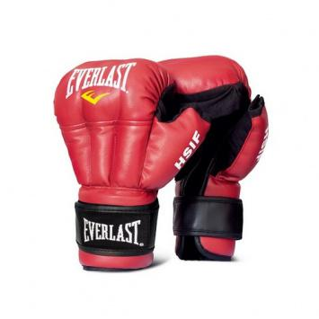 Перчатки для рукопашного боя Everlast HSIF PU RF3110, Красные EverlastЭкипировка для рукопашного боя<br>Перчатки для рукопашного боя Everlast HSIF PU. Перчатки для профессионалов!Выполнены из высококачественного кожзаменителя. Надежная фиксация липучкой. Дополнительная защита суставов. <br>Эксклюзивная официальная экипировка EVERLAST для рукопашного боя (с логотипом HSIF (международная федерация рукопашного боя)<br><br>Размер: 12 OZ L