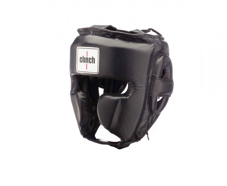 Шлем боксерский Clinch Punch черный Clinch GearДля бокса<br>Тренировочный шлем ClinchPunch- предназначендля любителей, шлем отлично защищает от серьезных травми достаточно долговечен. Шлем изготовлен из полиуретана нового нового поколения. Внутри шлема цельный литой вкладыш из пены. Шлемимеет защиту скул, что обеспечивает, более эффективную защиту лица. Шлем защищает голову, скулы, уши. Он предназначен для тех, кто занимается боксом, а так же для спортсменов других видов контактного спорта, где необходима совершенная,провереннаязащита. Высококачественныйполиуретан. Улучшенная, защита лица. Повышеннаяизносоустойчивость материала.<br><br>Размер: L