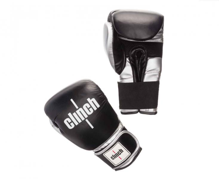 Перчатки боксерские Clinch Prime черно-серебристые, 10 унций Clinch GearБоксерские перчатки<br>Боксереские перчатки Clinch Prime. Хорошо зарекомендовавшие себя перчатки Clinch Punch обрели новый материал! Теперь перчатки дополнены натуральной кожей. Ударная кожаная часть. Многослойный пенный наполнитель обеспечивает улучшенную анатомическую посадку, комфорт и высокий уровень защиты. Дополнительная сетка на ладони позволяет быстро сохнуть и при этом циркулирует воздух внутри. Широкая резинка позволяет оптимально фиксировать запястье. Цвет: Черно/серыйРазмер: 10-16 oz.<br><br>Размер: черно-серебристые