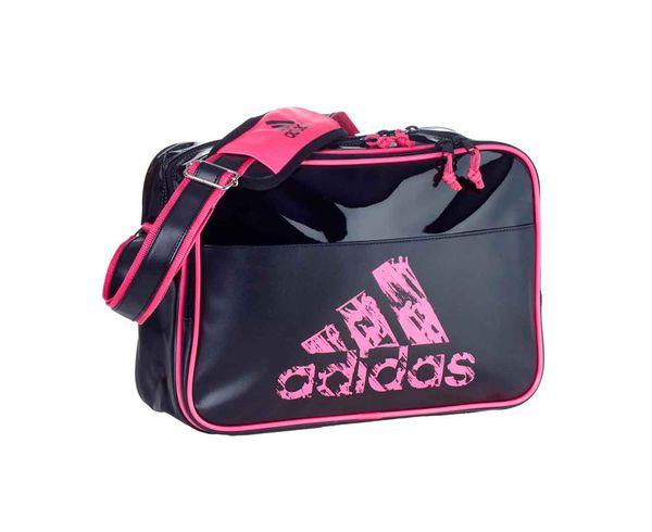 Купить Сумка спортивная Leisure Messenger S черно-розовая Adidas (арт. 18929)