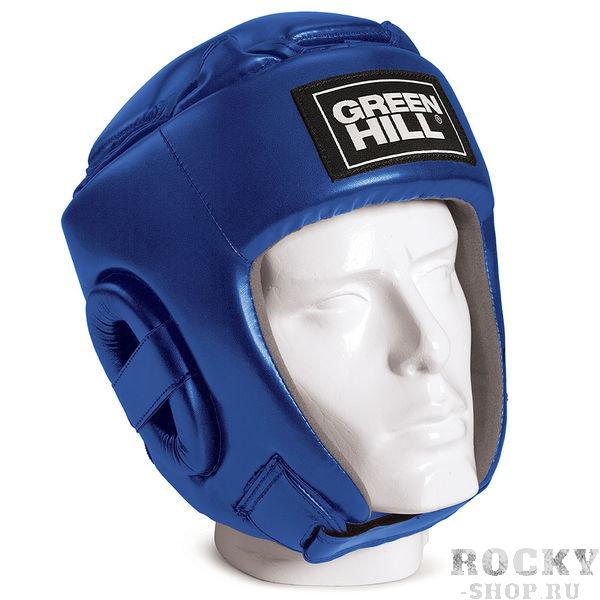 Соревновательный боксерский шлем Green Hill Glory, Синий Green HillБоксерские шлемы<br>Соревновательный шлем GLORY является конструктивной новинкой на рынке единоборств. Особенность конструкции в том, что крышка шлема сочетает в себе и шнуровку и крестообразный пенный модуль как в шлемах BEST и PRO, обеспечивая тем самым защиту головы от ударов сверху с максимально гибкую фиксацию за счёт шнуровки. Шлем будет интересен в первую очередь кикбоксерам. Внешняя сторона шлема выполнена из пенополиуретана FX, внутренняя сторона из искусственной замши AMARAСоревновательный шлемКомбинация шнуровки и пенного модуля в крышке шлема100% полиуретанВнутренняя сторона из искусственной замши AMARA<br><br>Размер: S