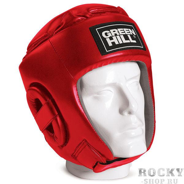 Соревновательный боксерский шлем Green Hill Glory, Красный Green HillБоксерские шлемы<br>Соревновательный шлем GLORY является конструктивной новинкой на рынке единоборств. Особенность конструкции в том, что крышка шлема сочетает в себе и шнуровку и крестообразный пенный модуль как в шлемах BEST и PRO, обеспечивая тем самым защиту головы от ударов сверху с максимально гибкую фиксацию за счёт шнуровки. Шлем будет интересен в первую очередь кикбоксерам. Внешняя сторона шлема выполнена из пенополиуретана FX, внутренняя сторона из искусственной замши AMARAСоревновательный шлемКомбинация шнуровки и пенного модуля в крышке шлема100% полиуретанВнутренняя сторона из искусственной замши AMARA<br><br>Размер: S