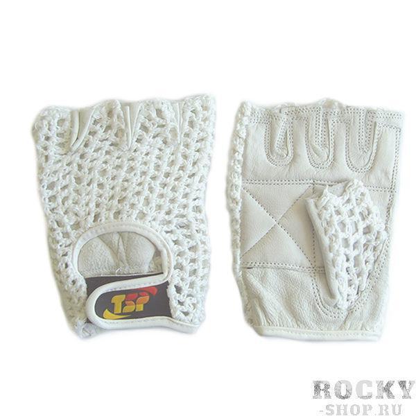 Перчатки для фитнеса, женские, Белые TSPПерчатки для фитнеса<br>Доступные женские перчатки для фитнеса. <br><br> Наружная часть в виде хлопковой сетки<br> Ладонная часть перчатки из кожи премиального качества<br> Дополнительные накладки на ладони и пальцах<br> Усиленные швы<br> Доступная цена<br><br>Размер: M